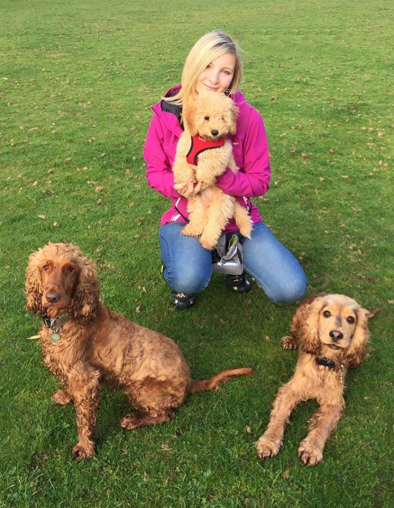 Hannah Antrobus specialist spaniel dog trainer warwickshire s