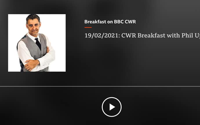 BBC CWR talking to Vic